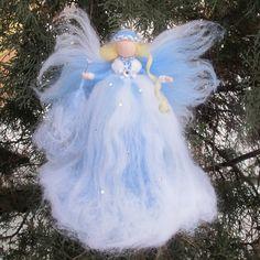 Fée en feutrine dhiver hiver magique fée hiver fée