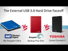 The WD My Passport vs The Seagate Backup Plus vs The Toshiba Canvio Connect II - Which one is best? Electronics Gadgets, Passport, Connection, Usb, Movie, Digital, Youtube, Accessories, Electronic Devices