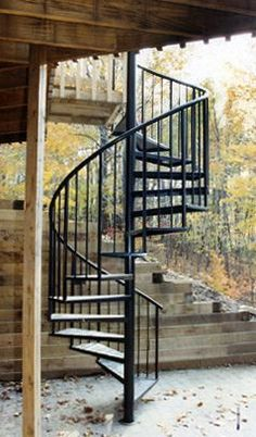 Spiral stairs exterior spiral stairs one day i would - Spiral staircase exterior aluminum ...