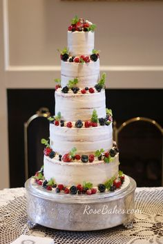Naked Cakes with Fruit - Lots of ideas for any occasion! These cakes are simple, pretty and really popular! Naked Wedding Cakes are perfect for the trendy rustic wedding themes! #naked #rustic #nakedcake #fruit #freshfruit #wedding #nakedweddingcake #recipes