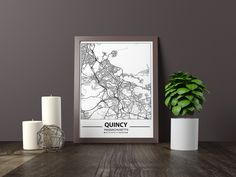 Excited to share the latest addition to my #etsy shop: Quincy map print, Minimalistic wall art poster, Massachusetts gifts, Birthday Gift, For father, Father Black And White Wall Art, Black And White City, Black And White Posters, Artwork Prints, Poster Prints, Art Posters, Bathroom Artwork, Map Wall Art, Father Father
