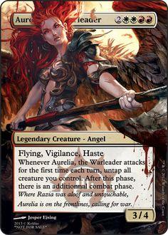 Aurelia, the warleader Angel Flying, League Of Angels, Mtg Decks, Mtg Altered Art, Crying My Eyes Out, Mtg Art, Legendary Creature, Magic The Gathering Cards, Alternative Art