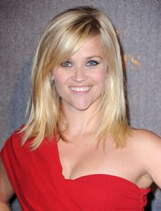 Do you have a heart-shaped face like Reese Witherspoon? We suggest you try keeping long hair past the shoulders with bangs or go for a bobbed #haircut below the chin with bangs. This will minimize the width of the face.  #beauty