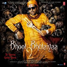 Actor Kartik Aaryan has shared the first look of his next, Bhool Bhulaiyaa The actor seems to be a Tantrik but with a hilarious twist and introduced it by referring to the hit number from the original, starring Akshay Kumar. Bollywood Movie Songs, Bollywood Actors, Hindi Movie, Bollywood News, Bollywood Fashion, Upcoming Films, 2 Movie, Movie Releases, Comedy Movies