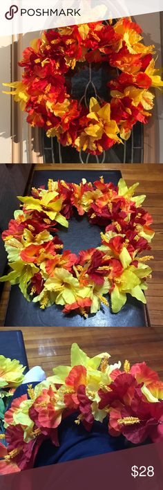 Custom floral wreaths Let me know what color flowers you want and I'll make a separate listing for your wreath! Accessories