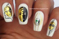Masquerade nail art by Margriet Sijperda