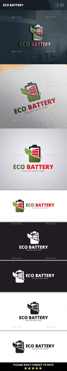 Eco Battery Logo Template - Objects Logo Templates