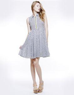 FRONT LIME ZIP DRESS, Colección primavera-verano 15