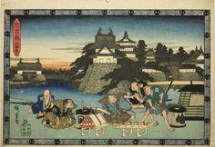 Utagawa Hiroshige  Japanese, 1797-1858, Scene from Act III of The Revenge of the Loyal Retainers