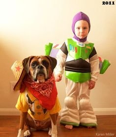 10.29.14 - Boy and Dog Dress in Matching Costumes Every Year3