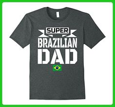 Mens Storecastle: Super Brazilian Dad Father's Day Brazil T-Shirt XL Dark Heather - Relatives and family shirts (*Amazon Partner-Link)