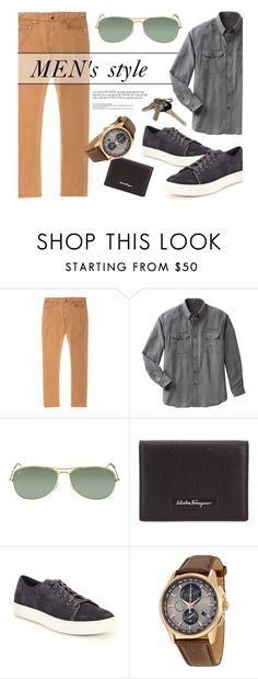 """""""Men's Style"""" by jomashop ❤ liked on Polyvore featuring N°21, TravelSmith, Ray-Ban, Salvatore Ferragamo, Vince, Citizen, men's fashion and menswear"""