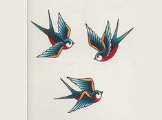 64 Trendy Tattoo Old School Golondrina Traditional Swallow Tattoo, Traditional Tattoo Old School, Traditional Tattoo Art, Trendy Tattoos, New Tattoos, Tattoos For Guys, Golondrinas Old School, Golondrinas Tattoo, Swallow Bird Tattoos