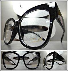 Mens Or Women Vintage Retro Style Clear Lens Eye Glasses Black Fashion Frame Vintage Ladies, Retro Vintage, Vintage Colors, Vintage Style, Lenses Eye, Oversized Glasses, Cat Eye Frames, Estilo Retro, Eye Glasses