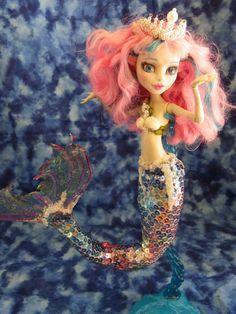 OOAK Mermaid 'Pearl' Monster High by EnchantedIslandDolls