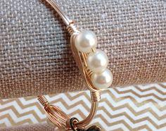 bourbon and bowties bracelets | ... Bracelet, Wire Bracelet, Wire Wrapped Pearl Bracelet, Gold Bracelet