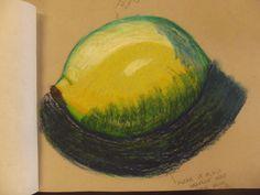 Lemon :) Done in oil pastels :)