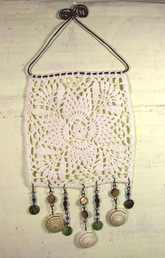 Granny chic wall hanging white doily by PugcentricPursuits on Etsy, $18.00