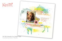 This project will show you how to create a gorgeous mixed media layout using ink sprays, paint and stamping.