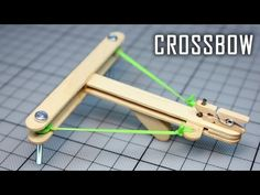 How to Make a Mini Crossbow with trigger out of popsicle sticks. How to make a Crossbow out of wood, easy and at home. Diy Crossbow, Crossbow Hunting, Crossbow Arrows, Hunting Gear, Diy Popsicle Stick Crafts, Popsicle Sticks, Diy Home Crafts, Fun Crafts, Crafts For Kids