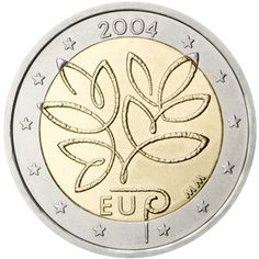 Detailed image and information about 2 euro coin Fifth Enlargement of the European Union in 2004 from Finland issued in The coin is part of series Commemorative 2 euro coins. Visit the best collector and commemorative coin website: The Collector Coins. Euro Währung, Euro 2012, Piece Euro, Euro Coins, Commemorative Coins, World Coins, Coin Collecting, Silver Coins, Circulation