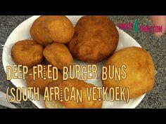 Deep-Fried Burger Buns - South African Vetkoek, Crispy on the Outside, S...