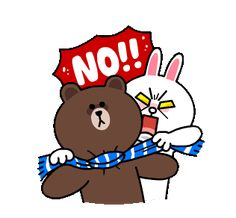 Brown & Cony's Snug Winter Date sticker Cute Couple Cartoon, Cute Love Cartoons, Girl Cartoon, Sad Anime Girl, Anime Love, Winter Date, Flower On Head, Bear Gif, Cony Brown