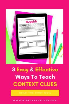 Context clues can be tricky to teach and need to be practiced daily to really have students understand what context clues are! In this post, I have 3 easy and effective ways to teach context clues. These tips help make context clues engaging and fun and are effective! Teaching 5th Grade, 5th Grade Reading, Teaching Grammar, Help Teaching, Teaching Reading, Guided Reading, Learning, Reading Resources, Reading Strategies