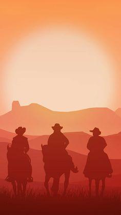 Vintage Cowboys iPhone Wallpaper - iPhone Wallpapers