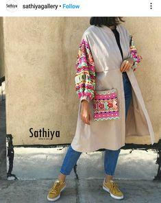 Modesty Fashion, Abaya Fashion, Muslim Fashion, Boho Fashion, Girl Fashion, Fashion Dresses, Womens Fashion, Jacket Style Kurti, Mode Kimono