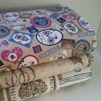 Poťahová režná látka s vintage potlačou Cotton Fabric, Decorative Boxes, Personalized Items, Store, Vintage, Home Decor, Decoration Home, Room Decor, Cotton Textile