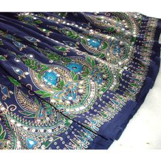 Gypsy Skirt Long Midnight Dark Navy Blue Indian Boho by DelhiDaze, $37.00 NEED!