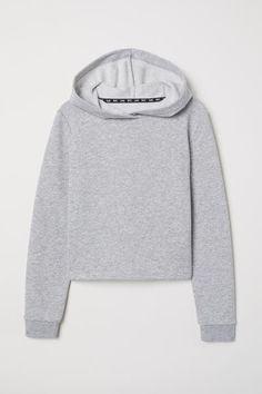 eaa18f760873 Short Hooded Sweatshirt - Black - Kids