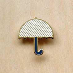 broche Umbrella Origami, Badge, Jewels, Metal, Accessories, Enamel, Style, Copper, Bronze