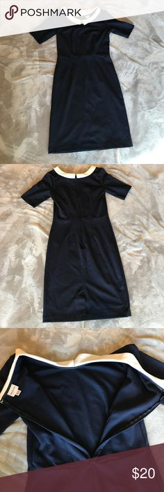 "Merona dress Knee length navy blue and white ""sailor"" dress with Peter Pan collar looks new size XS * no trades* Merona Dresses Midi"