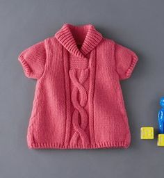 Easy Knitting Patterns Knitting is a old fashioned hobby which is very popular nowadays.We all agree that knitting acquires skills but still not that hard for the beginners. Baby Knitting Patterns, Knitting For Kids, Easy Knitting, Knit Baby Dress, Knitted Baby Clothes, Baby Knits, Baby Pullover, Baby Cardigan, Sweater Cardigan