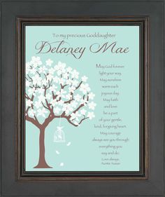 Madelyn    GODDAUGHTER Personalized Gift  COMMUNION or by KreationsbyMarilyn, $15.00