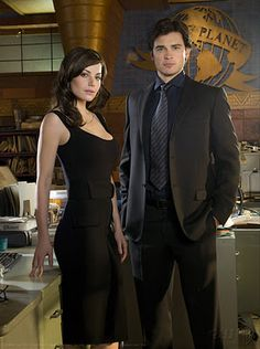 Smallville, my all-time fave show. Tom Welling as Clark Kent and Erica Durance as Lois Lane