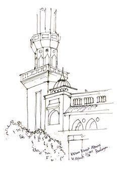 Menara Masjid Al Fairus Pekalongan, maaf menaranya kepotong hahaha