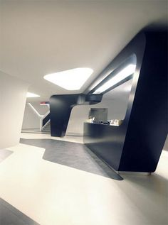 Reception Desk  Would make for a really cool looking kitchen