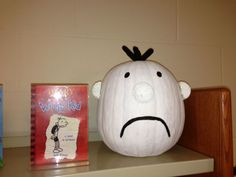 Greg Heffley (Diary of a Wimpy Kid) - Book Character Pumpkin (Pumpkin Painting 2012)
