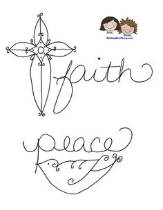 Sweet Faith and Peace free embroidery patterns