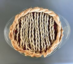 Knitted Pie Crust for Pi Day