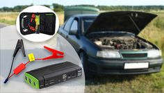 Buy 8-Piece Car Battery Jump Starter Kit for just £34.99 Give struggling vehicles a helping hand with the Car Battery Jump Starter Kit      Uses innovative, patented design to provide one of the smallest car jump products available      Simply attach jump starter clamps to the portable 3-in-1 power bank      Each supports 12V auto-emergency start function and 12V, 16V and 19V devices     ...