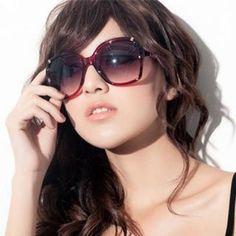Faux-Leather Trim Sunglasses Blue Diamonds, Sunglasses Women, Leather, Fashion, Moda, Fashion Styles, Fasion