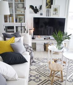 Have a nice evening  new tables and one new cushion cover - can you guess which one ?  #interiormagasinet #interiorwarrior #interior4you1 #interior4all #interior125 #interior123 #scandinavianhomes #sisustus #myhome #livingroom #olohuone #interior