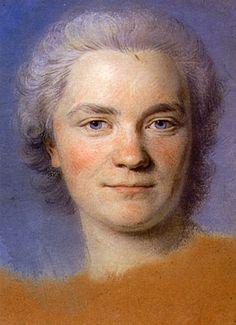 Preparation to the portrait of Mrs. Rougeau - Maurice Quentin de La Tour - Gorgeous technique.