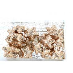Varie - Spilli con Stellina Glitter Oro pz 24 - un prodotto unico di raffasupplies su DaWanda