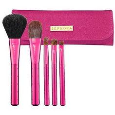 """SEPHORA COLLECTION Skinny Brush Wrap Pink 7.5 x 6.5"""" (open); 6.5 x 2.25"""" (closed) by Sephora. $45.99. Makeup Brushes. Sephora Skinny Brush Collection. 5 Pieces"""