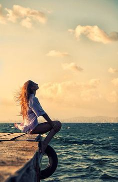 I love to just sit and feel the ocean breezes on a hot summer day... aahh...